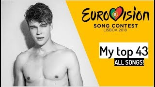 Video Eurovision 2018 | Final Top 43 (all songs) | + Official video's MP3, 3GP, MP4, WEBM, AVI, FLV Juni 2018