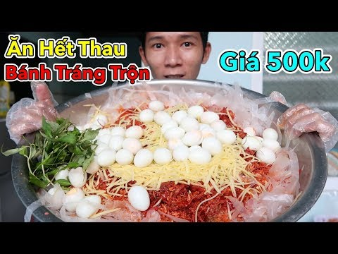 Lâm Vlog - Tự Làm và Thử Thách Ăn Hết Thau Bánh Tráng Trộn Khổng Lồ Giá 500k - Thời lượng: 19:29.