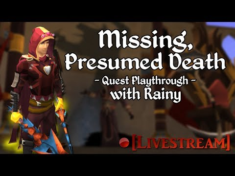runescape quest - Missing, Presumed Death is a novice Runescape Quest with a high focus on lore. It evolves around the death of a group of Saradominist monks, but quickly take...