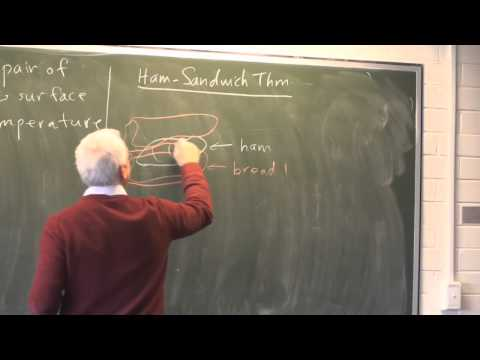 AlgTop14: The Ham Sandwich theorem and the continuum