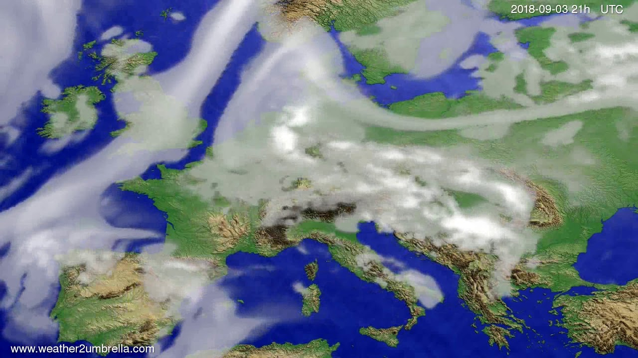 Cloud forecast Europe 2018-08-31