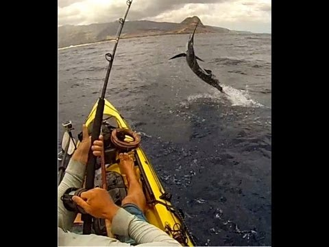 Kayak Fishing SailFish – Hawaii July 2013