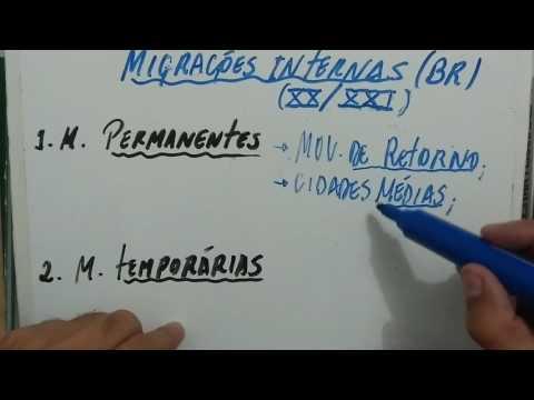 Migrações Internas no Brasil (tendências)