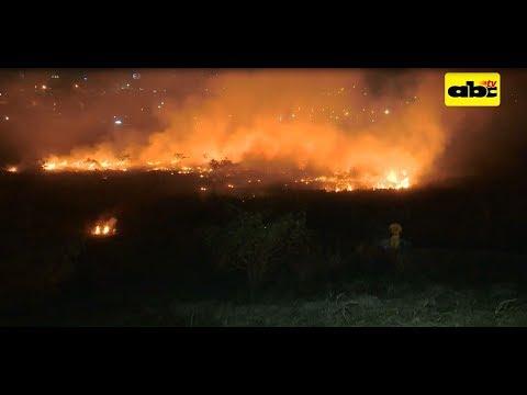 Difícil ingreso para controlar incendio de pastizal en Costanera