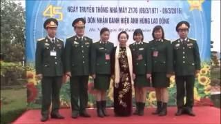 Lễ đón danh hiệu Anh Hùng Lao Động Z176