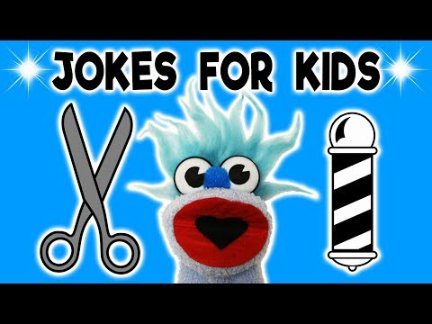 FUNNY HAIRCUT JOKE! - JOKES FOR KIDS! Hairstylist! 100% Child-Appropriate Jokes! FUNNY! Sock Puppet!