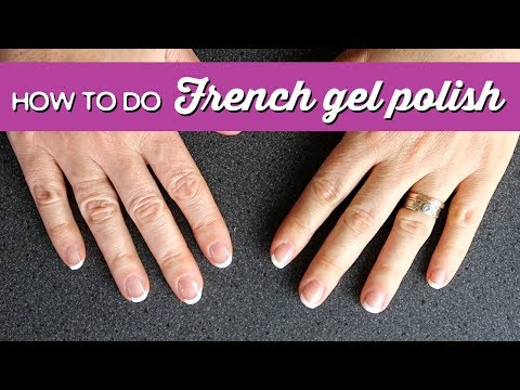 Gel nails - How to do French Gel Polish  A Thousand Words