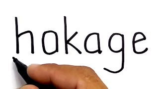 KEREN, menggambar NARUTO HOKAGE KE-7 dari kata hokage