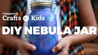 A nebula is an interstellar cloud of dust, hydrogen, helium and other ionized gases. Open up a discussion with your kids about the nebulas in outer space with this clever craft, a DIY Nebula Jar. Filled with layers of water, tempera paint, glitter and cotton balls, the appearance mimics that of a nebula. For full instructions go to: http://www.pbs.org/parents/crafts-for-kids/diy-nebula-jarSubscribe for new videos every Wednesday: http://www.youtube.com/subscription_c...Crafts for Kids is a weekly series that encourages parents and kids to spend time together making fun and simple projects. Brought to you by PBS Parents and Caroline Gravino of Salsa Pie Productions. Music provided by APM.