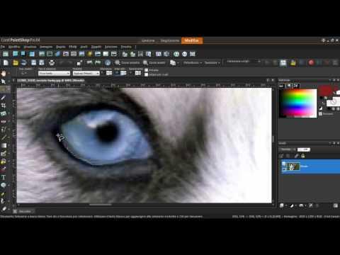 Come cambiare il colore degli occhi Corel Paint Shop Pro X 4