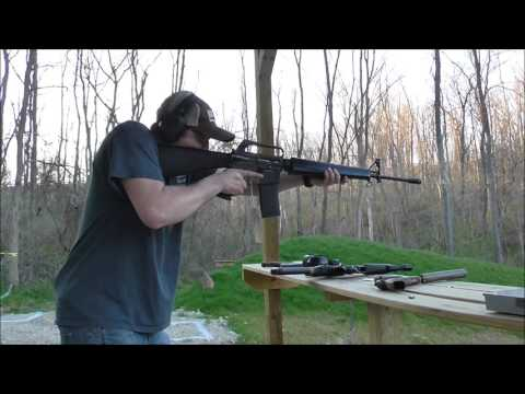 Shooting An M16 (full Auto)