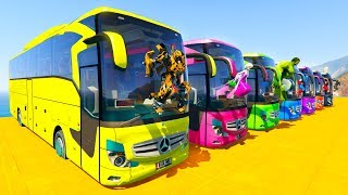 Video LEARN COLOR BIG BUS with Superheroes  Cartoon for kids and babies MP3, 3GP, MP4, WEBM, AVI, FLV Agustus 2017