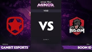 [RU] Gambit Esports vs BOOM-ID, Game 1, StarLadder Imba TV Dota 2 Minor Group Stage
