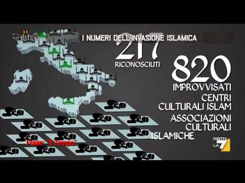 i numeri dell'invasione islamica in italia