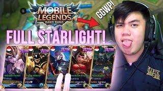 Download Video 1 TEAM YOUTUBER FULL STARLIGHT SKIN!?!? IMBA ! - Mobile Legends Indonesia #45 MP3 3GP MP4