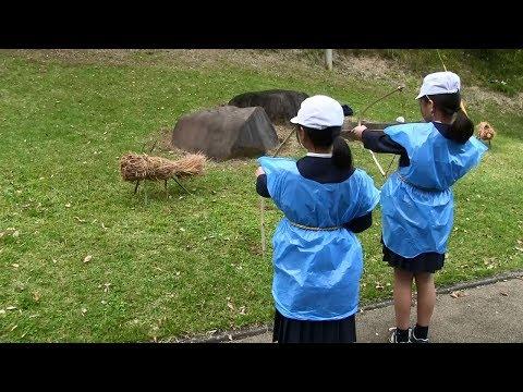 種子島の学校活動:南界小学校3・4年生縄文体験