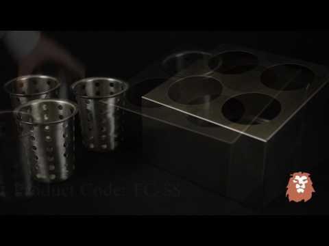 Winco Flatware Cylinder Holder Demo by LionsDeal.com