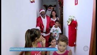 Casa do Papai Noel é atração em Bariri