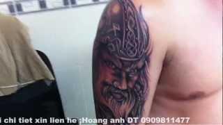 Tattoo Cân Thơ,HoangAnhtattoo CanTho City ,hinh Xam Chien Binh Dep