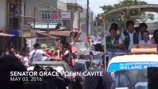 Grace Poe holds motorcade in Cavite