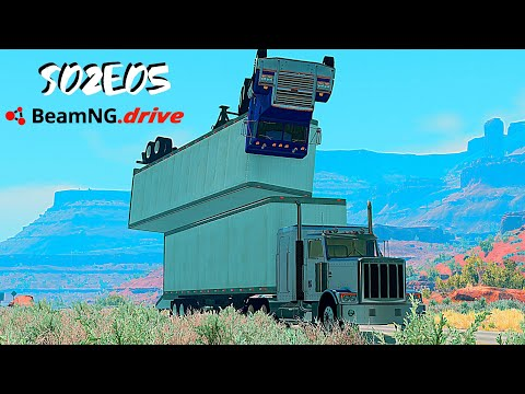 Beamng Drive Movie: Epic Chase Leads To Freeway Disaster (+Sound Effects) |Part 15| - S02E05