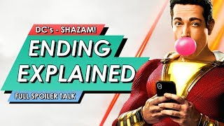 SHAZAM Ending Explained Breakdown + Post Credits Scenes, Hidden Easter Eggs You Missed & Review