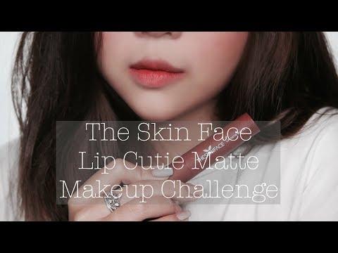 |Swatch + Review| The Skin Face Lip Cutie Matte + Challenge Trang Điểm Bằng Son | Vân Thỏ