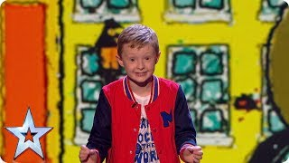 It's time to get savage as Ned Woodman delivers more giggles with his gags, this time targeting One Direction, Prince Philip and of course, the Judges!See more from Britain's Got Talent at http://itv.com/talentSUBSCRIBE: http://bit.ly/BGTsubFacebook: http://www.facebook.com/BGTTwitter: http://twitter.com/BGT
