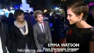 One Direction meet Harry Potter stars - vostfr
