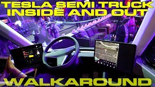Tesla Semi Truck Detailed Interior and Exterior Walk Around by DragTimes