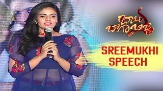 Sreemukhi Super Speech || Babu Baga Busy
