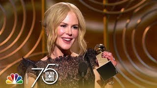 Video Nicole Kidman Wins Best Actress in a Limited Series at the 2018 Golden Globes MP3, 3GP, MP4, WEBM, AVI, FLV Februari 2018