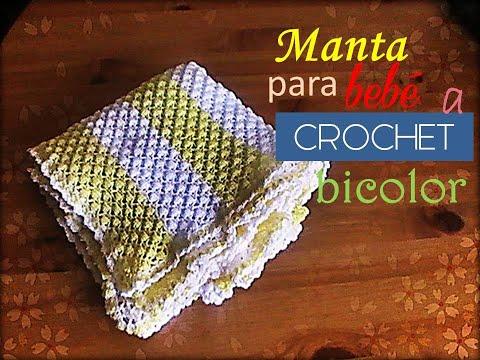 uncinetto - copertina bicolor per neonati