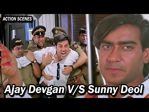 Ajay Devgan V/S Sunney Deol    Best Action Movies    Top Bollywood Action Scenes