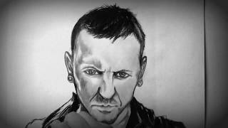 Heres a drawing I did of him years back ... linkin park's Lead singer Chester Benington commits suicide ....One of my all time ...