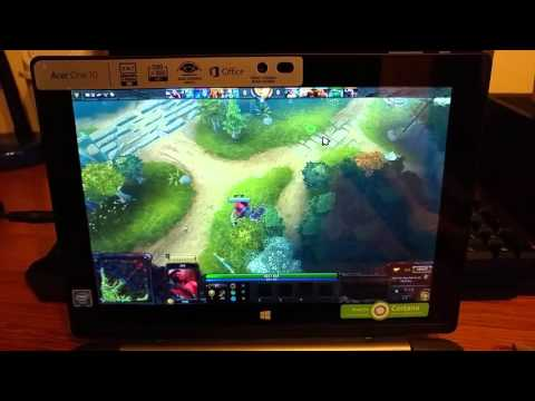 Acer Aspire One 10 (S1002) Testing Dota 2 - Intel Atom Z3735F - Windows 10 - Tablet PC