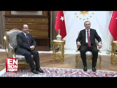 Cumhurbakan Erdoan Barzaniyi kabul etti