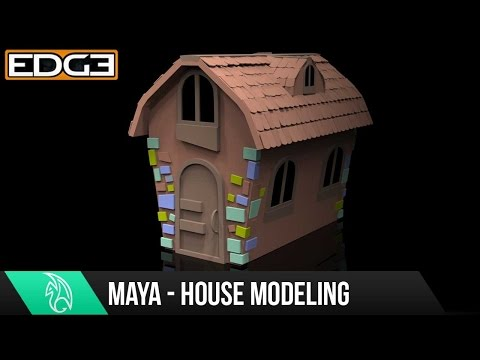 #1 Maya For Beginners - Modeling A Cartoon House Tutorial 1080p HD