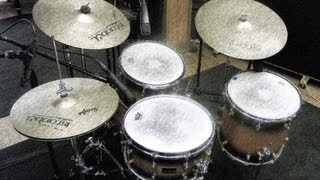 Christos Asonitis and Gabriel Apollon custom maple drumset