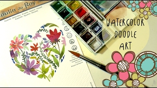 Hello my fantastic friends welcome in a new watercolor video! We're painting a doodle art flowery heart for Valentine's Day cards or as a decoration to put it on a frame, as a Valentine's gift idea... it's super simple and easy and quick to make!