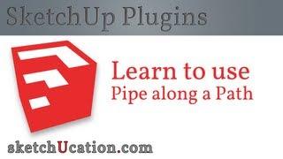Video SketchUp Plugin Tutorial | Pipe Along a Path MP3, 3GP, MP4, WEBM, AVI, FLV Desember 2017