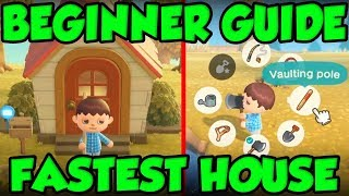 BEST Animal Crossing New Horizons Beginners Guide - FASTEST HOUSE AND TOOL RING GUIDE! by Verlisify