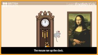 Hickory dickory dock with lyrics, Nursery Rhymes, LearnEnglish Kids