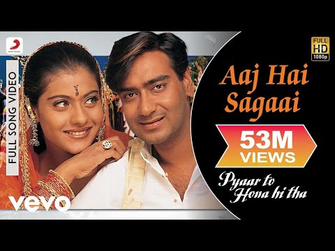 Aaj Hai Sagaai Full Video - Pyaar To Hona Hi Tha|Kajol, Ajay Devgan|Abhijeet,Alka Yagnik