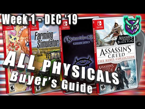 ALL Switch PHYSICAL Games This Week! - Collector's Guide - Dec. Week 1 2019