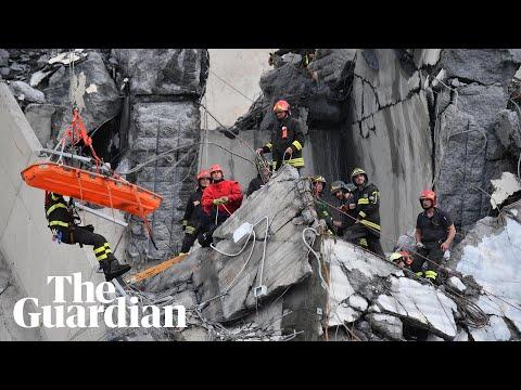 Video Genoa bridge collapse: rescuers search for survivors download in MP3, 3GP, MP4, WEBM, AVI, FLV January 2017