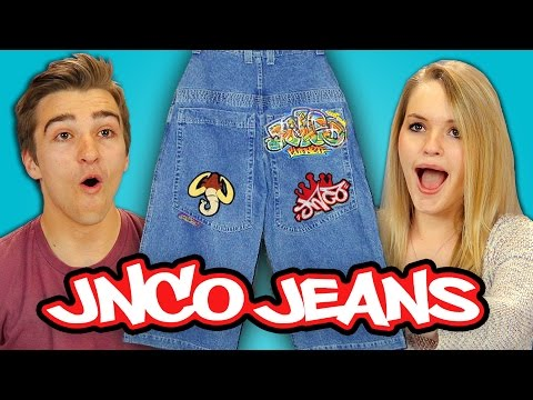 TEENS REACT TO 90s FASHION – JNCO JEANS