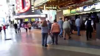 A walk down Fremont St Las Vegas during the afternoon, Binions, Four Queens The D, Golden Gate. Fremont Street is a street in Las Vegas, Nevada, and is the s...