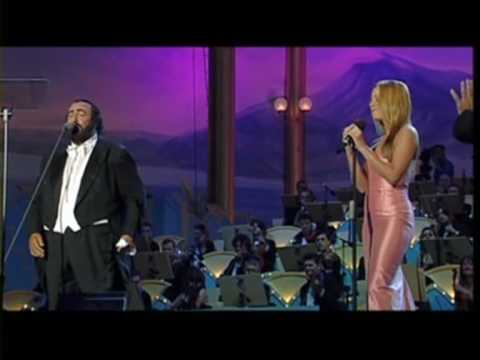 mariah carey and luciano pavarotti...