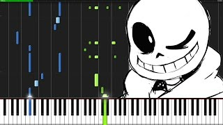 sans. - Undertale [Piano Tutorial]